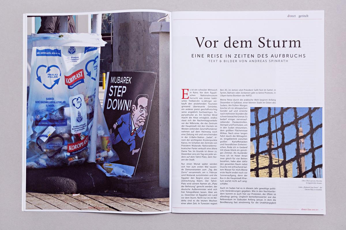 Gestaltung Titelthema, Ausgabe 1/2011