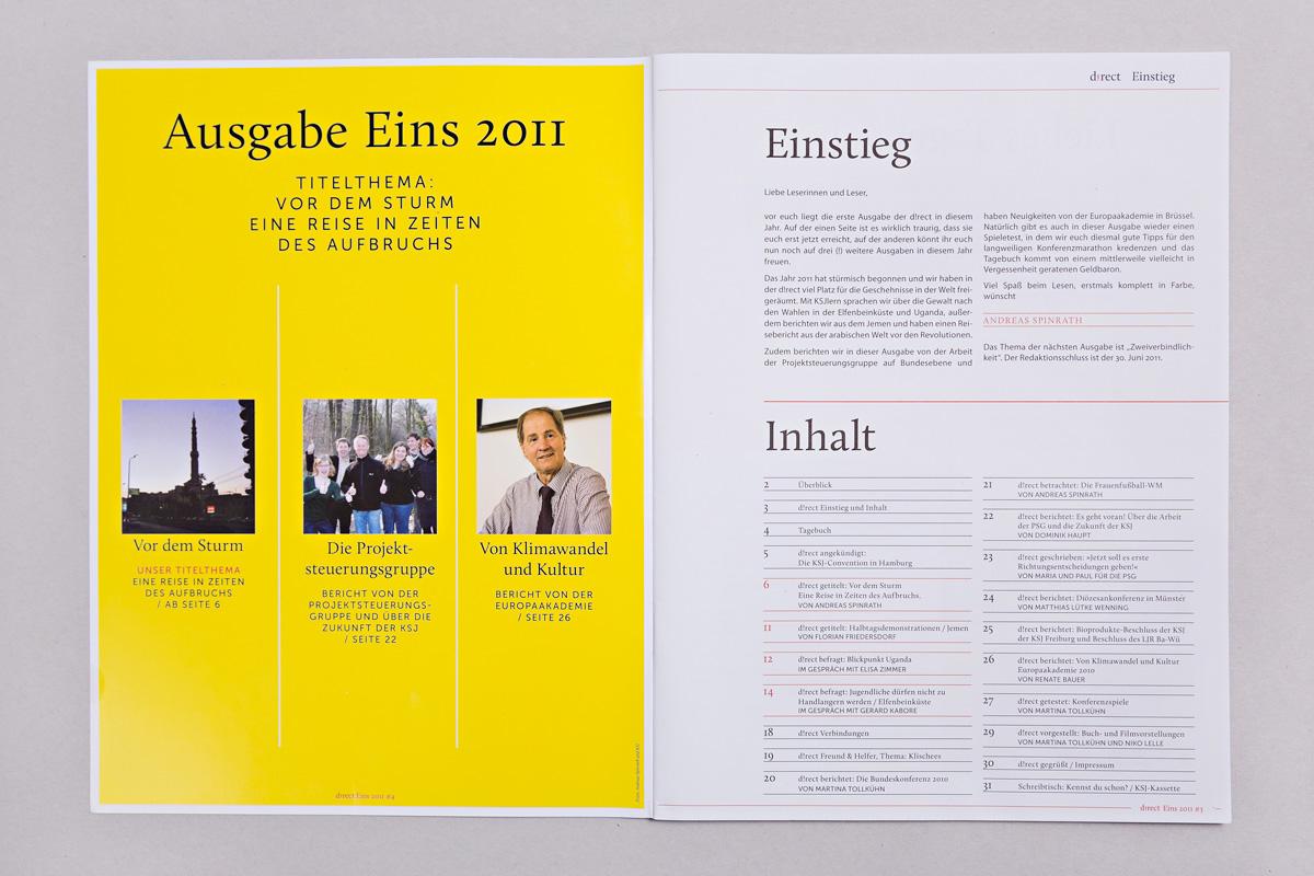 Inhalt und Editorial, Ausgabe 1/2011
